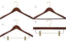 Flat Walnut Brass Hanger Bundle