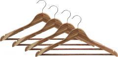 4 Pack of Cedar Suit Hangers