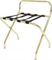 Brass Luggage Rack W/ Back