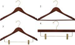 Flat Walnut Brass Hanger Bundle