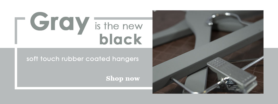 Gray Soft Touch Rubber Coated Hangers