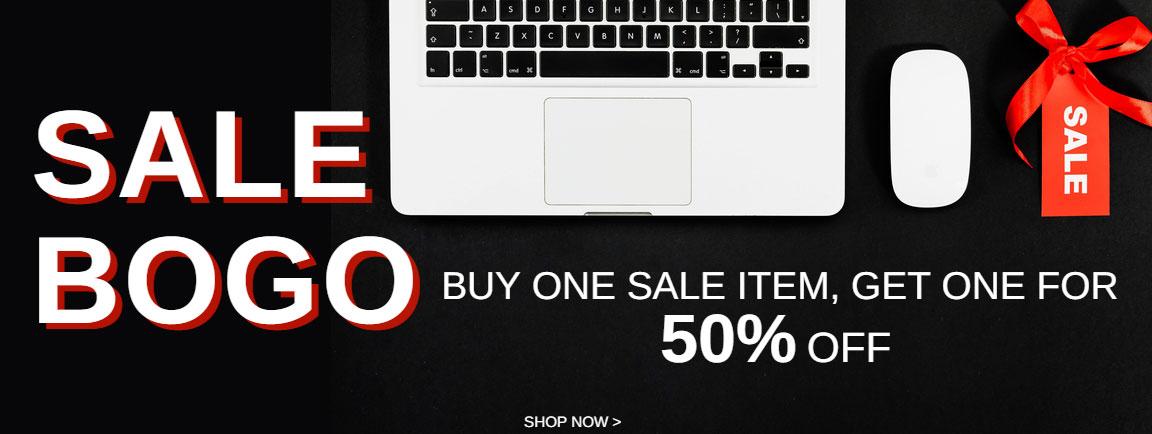 Sale BOGO - Buy 1 sale item, get 1 sale item at 50% off