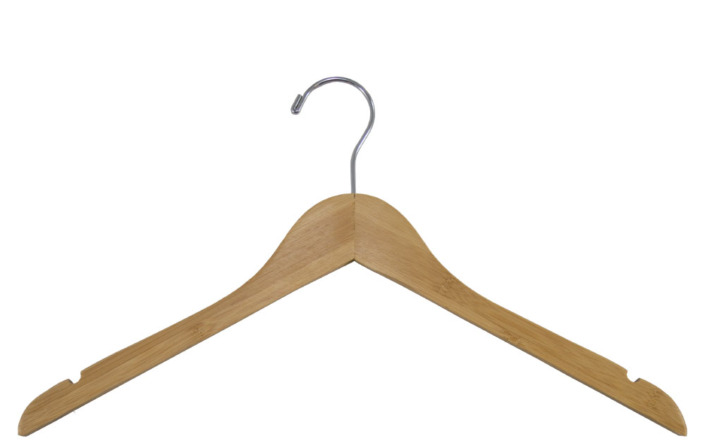 Bamboo Shirt hanger with notches