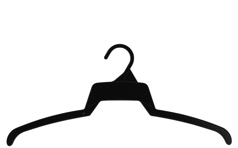Black plastic top hanger